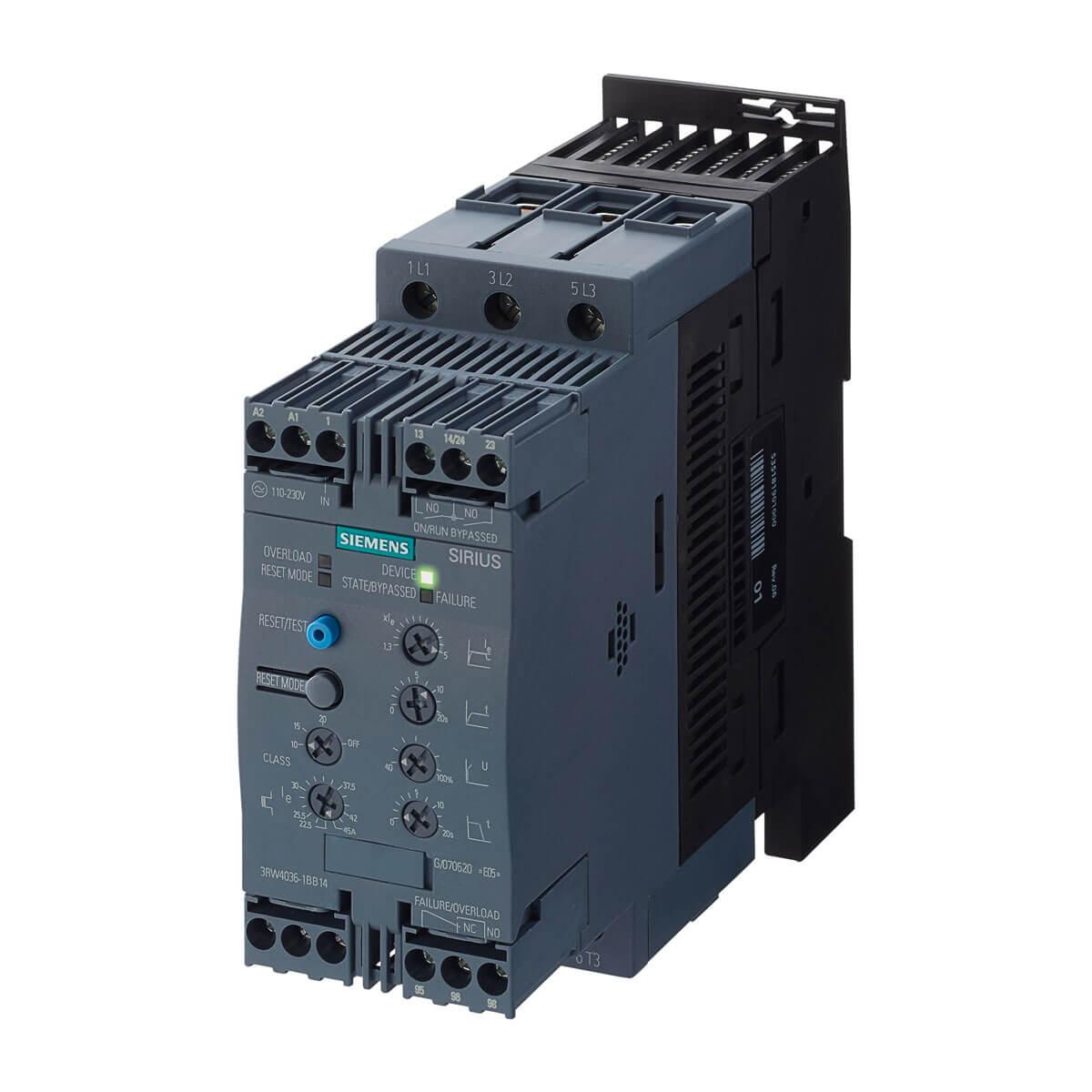 Arrancador Suave Sirius 3RW40 Prestaciones Avanzadas | Siemens