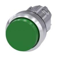 Pulsador de 22 mm, redondo, metal, brillante - Siemens - 3SU1050-0BB40-0AA0